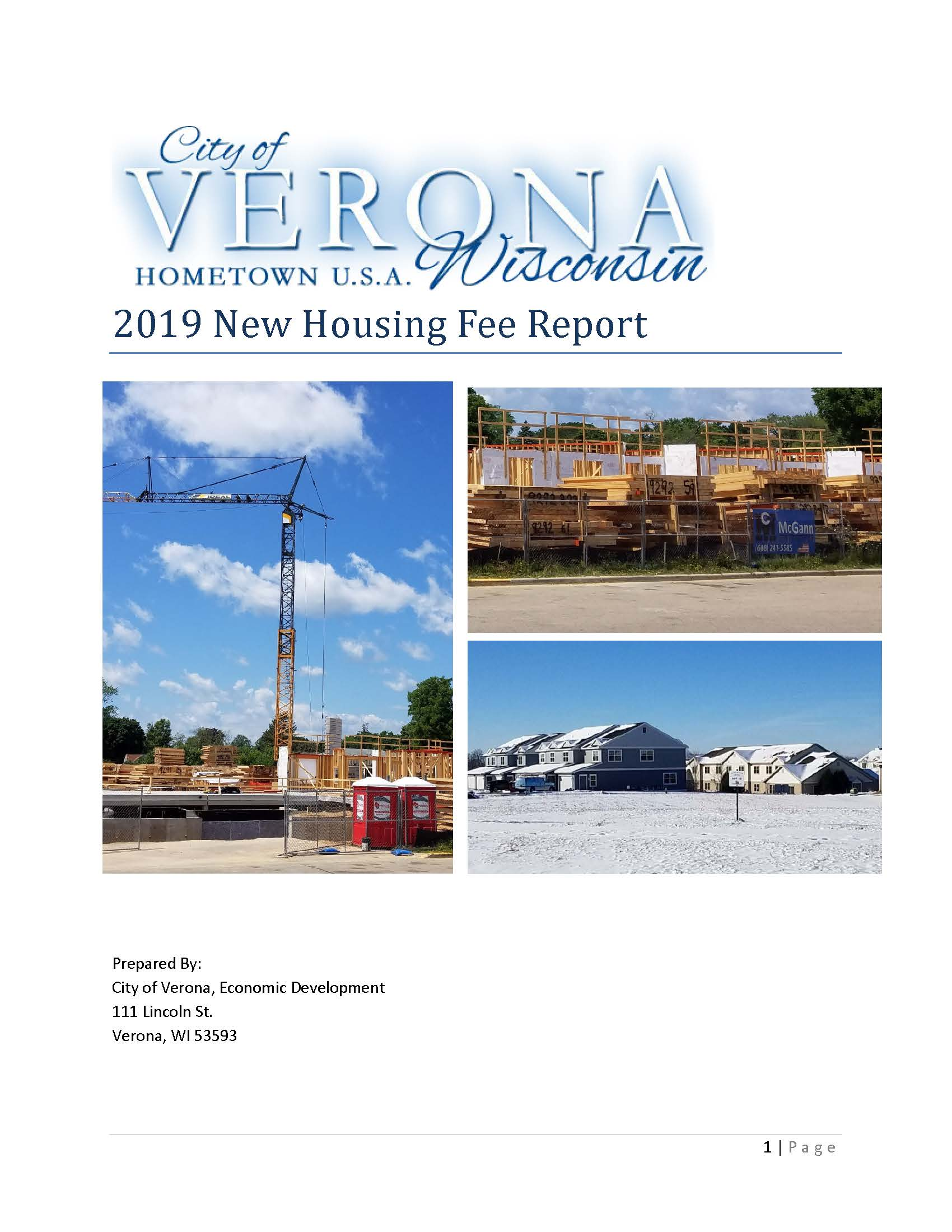 Cover of Housing Fee Report - FINAL